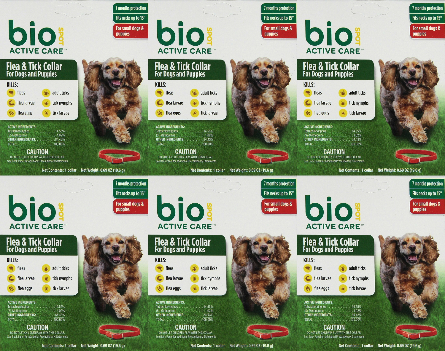 Bio Spot Active Care Flea Tick Collar For Small Dogs 6pk