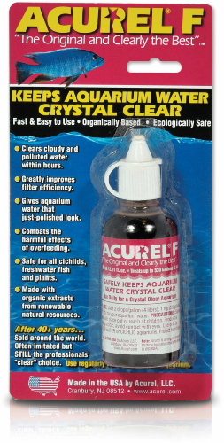 Acurel f water clarifier 25ml for Cloudy fish tank water in established tank