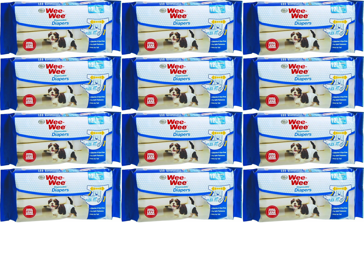 Four Paws Wee Wee Disposable Dog DIAPER   SMALL  12 Pak